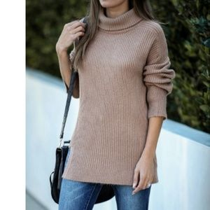 S. the Widow Sweaters - ESSEX DR. Ribbed Knit Turtleneck Sweater